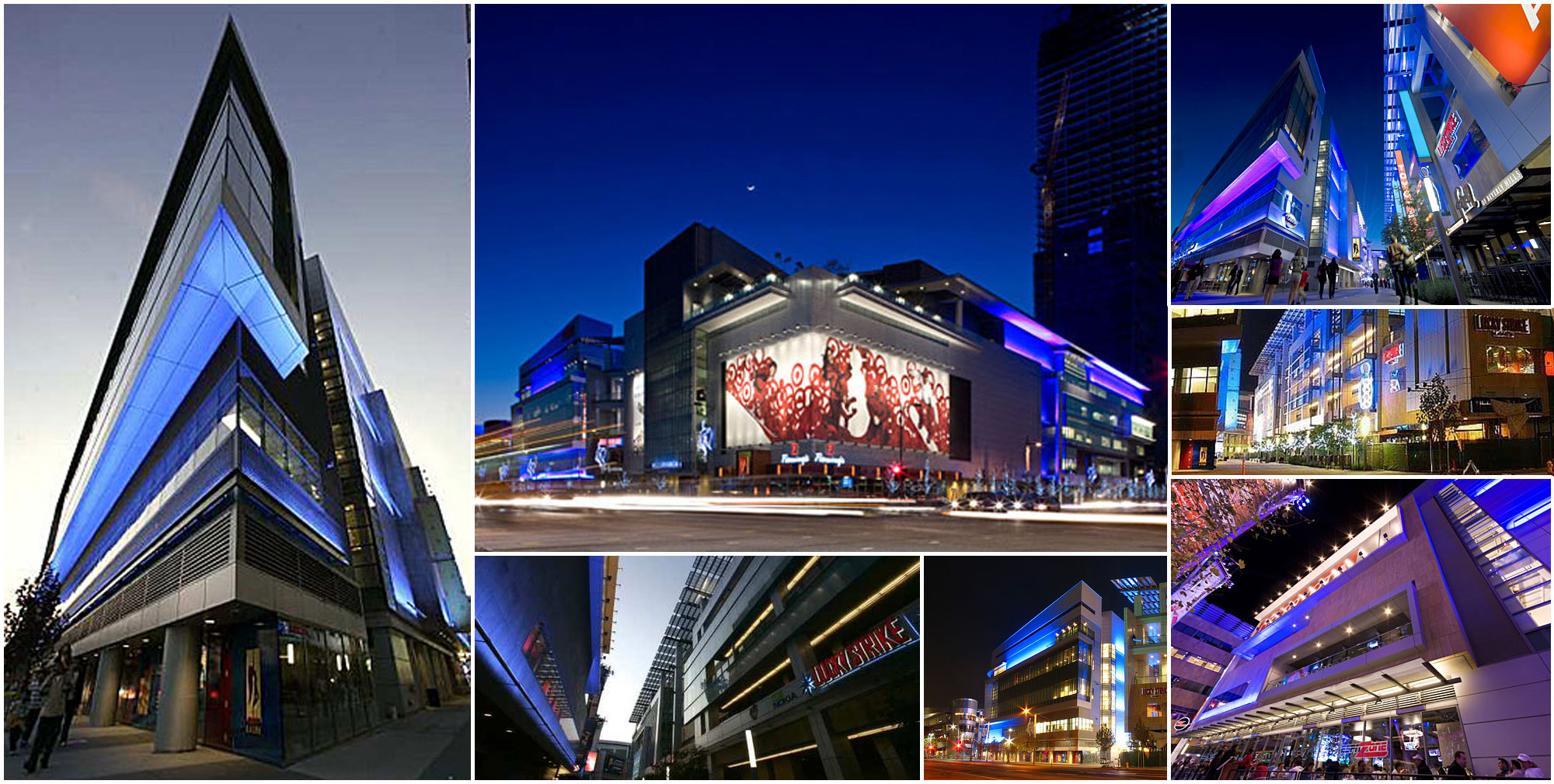 L.A. Live architectural design collage