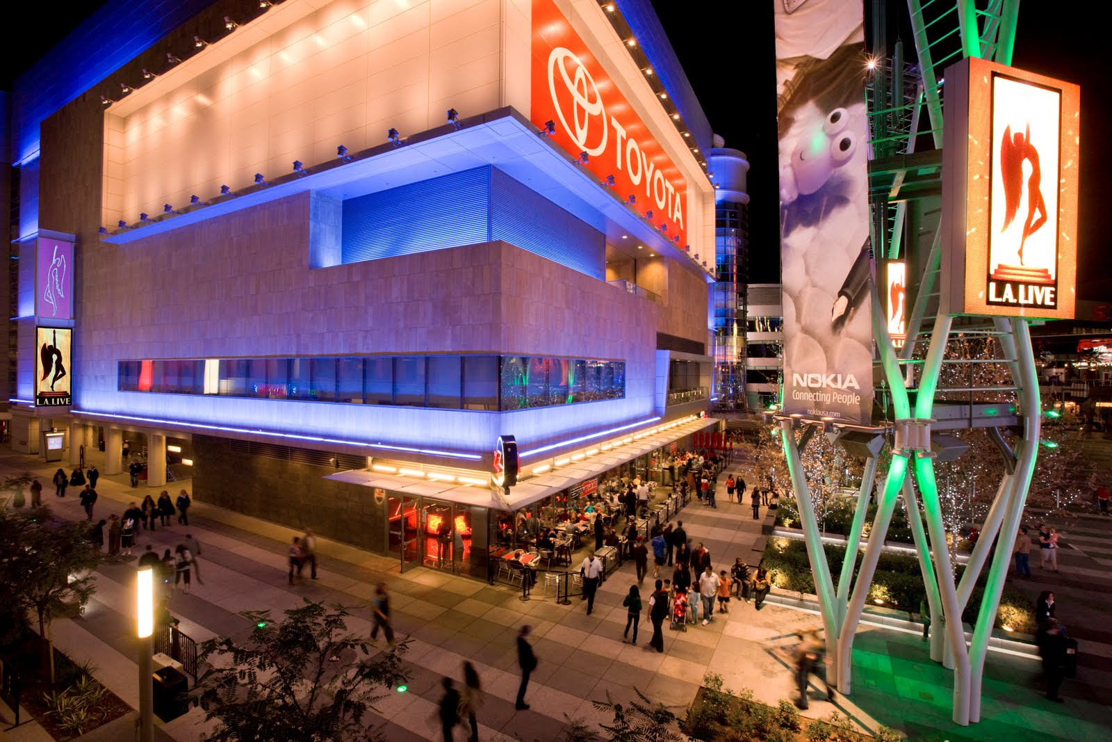 L.A. Live facade lighting design portfolio