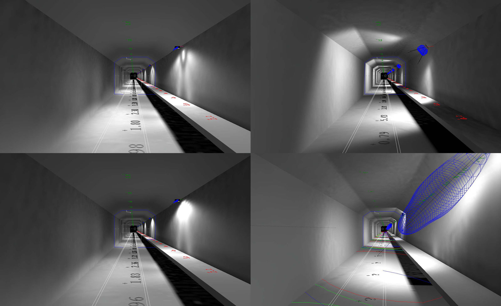 Various options for tunnel lighting design