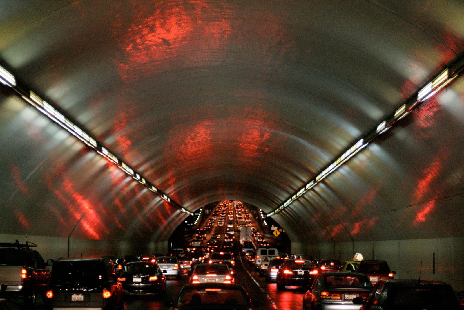 Yerba Buena Tunnel existing lighting