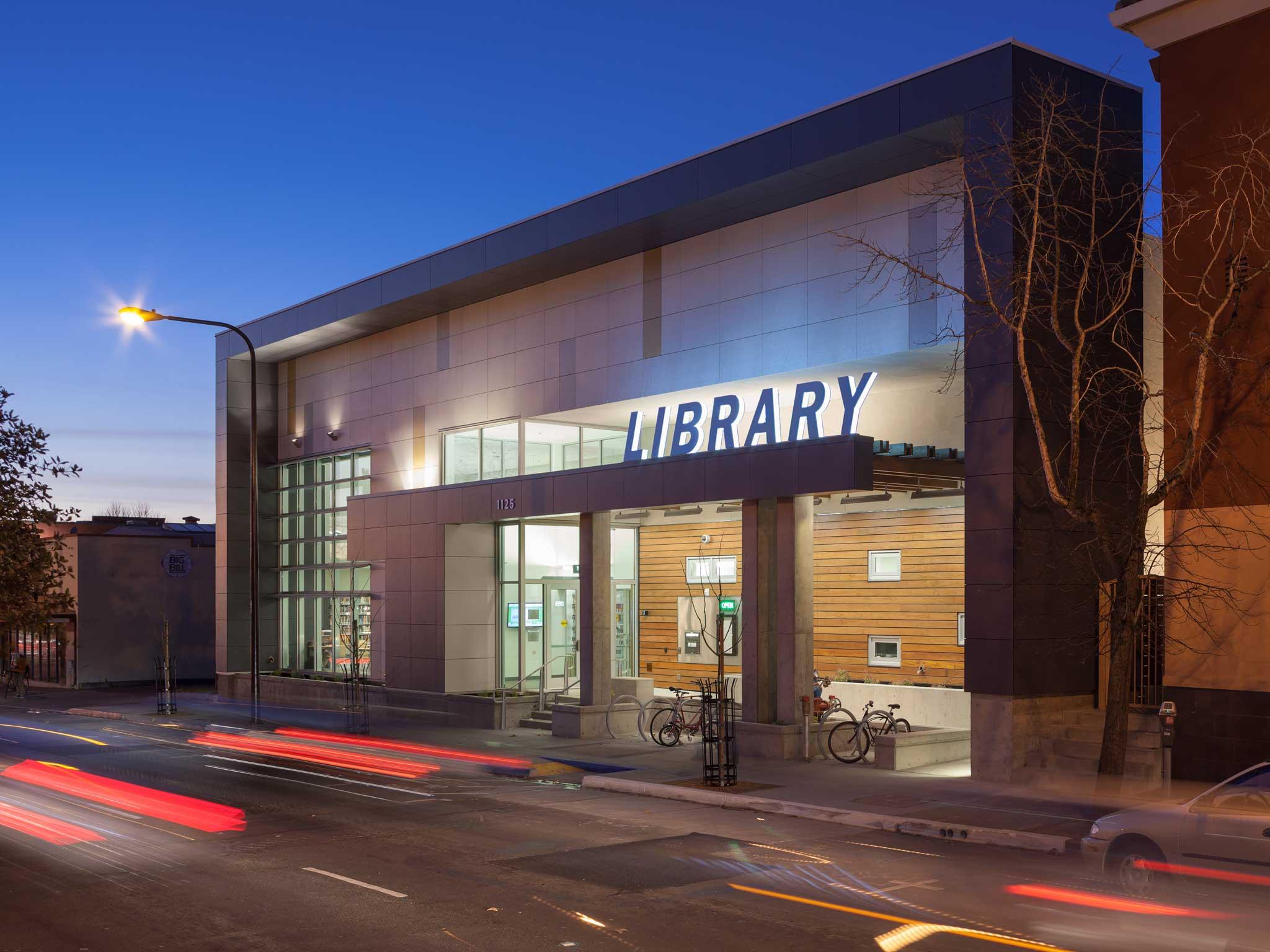 Neighborhood presence west berkeley library for House exterior design photo library