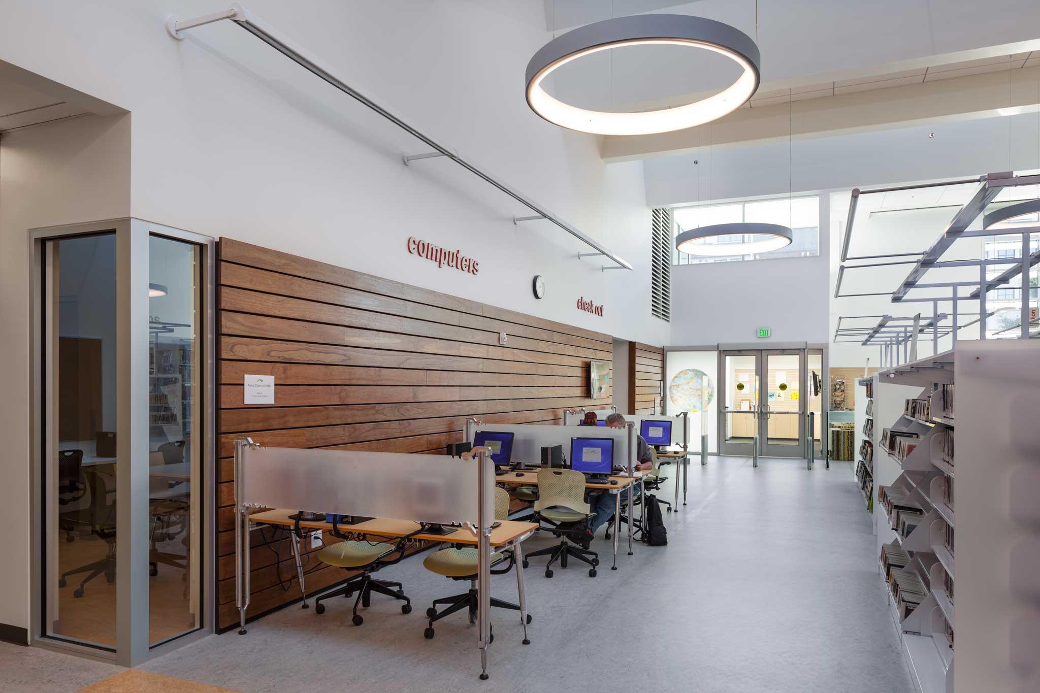 Library Public Area Lighting Design