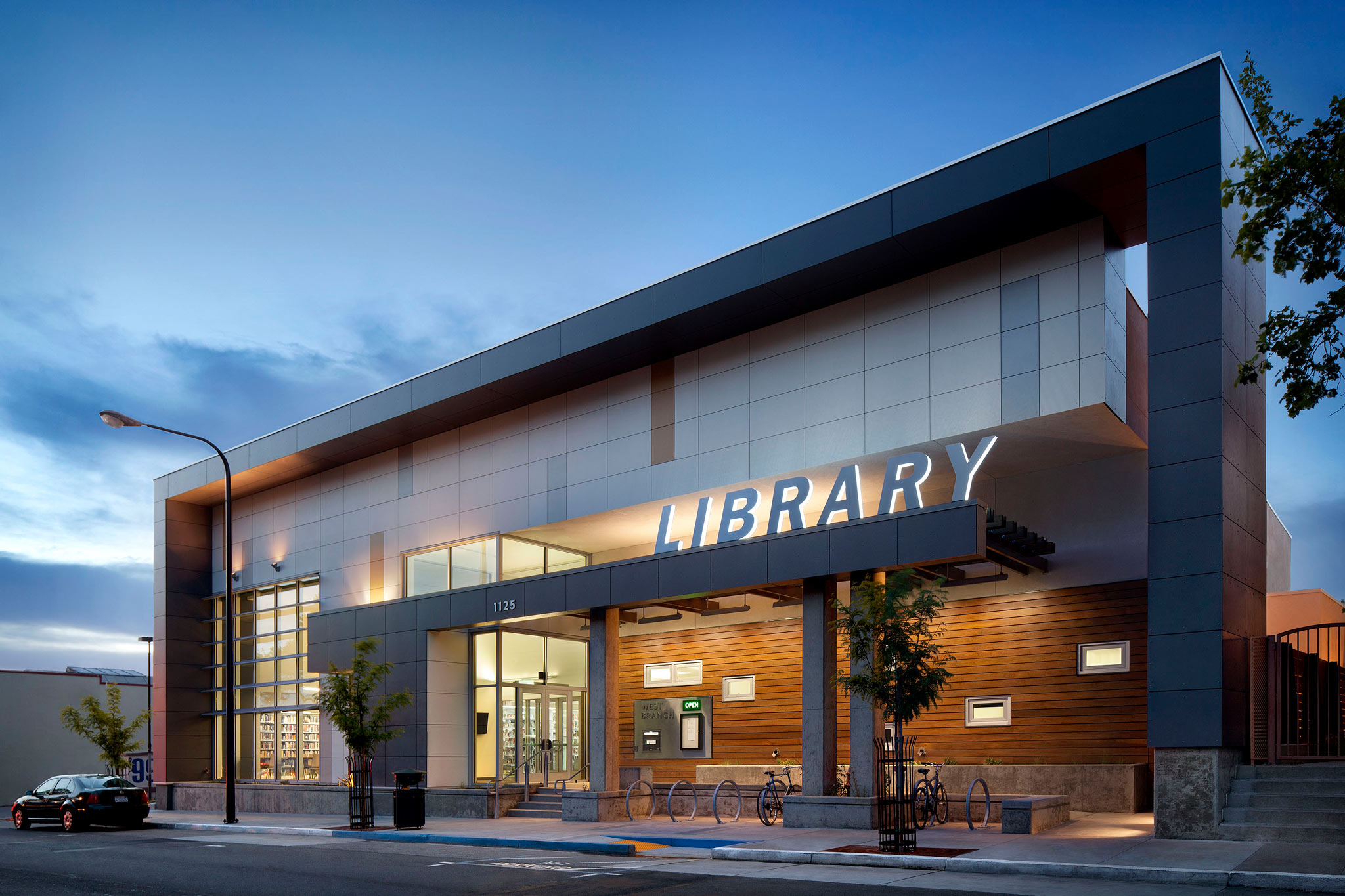 Library Exterior Lighting