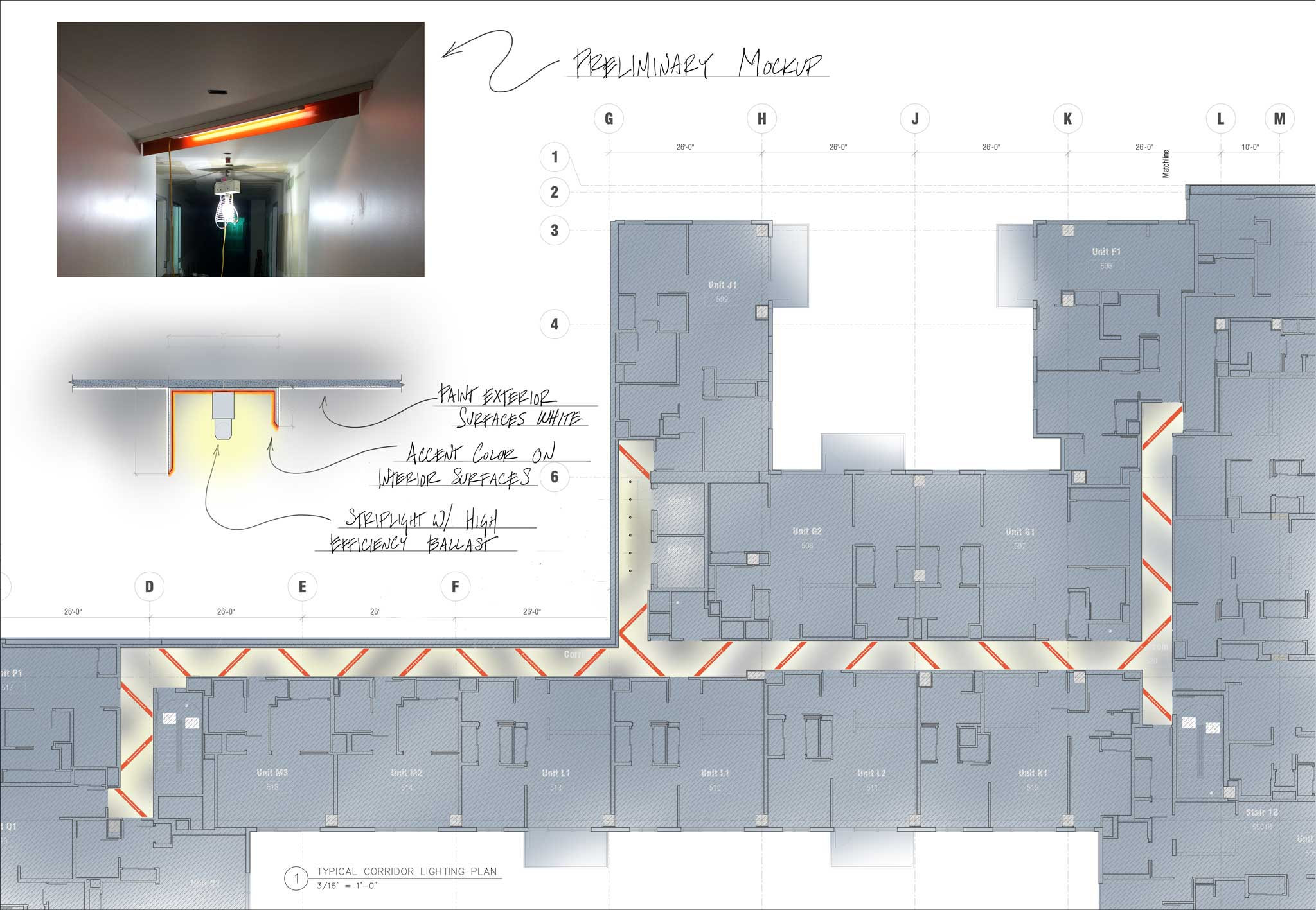 Lighting Design concept for multifamily residential