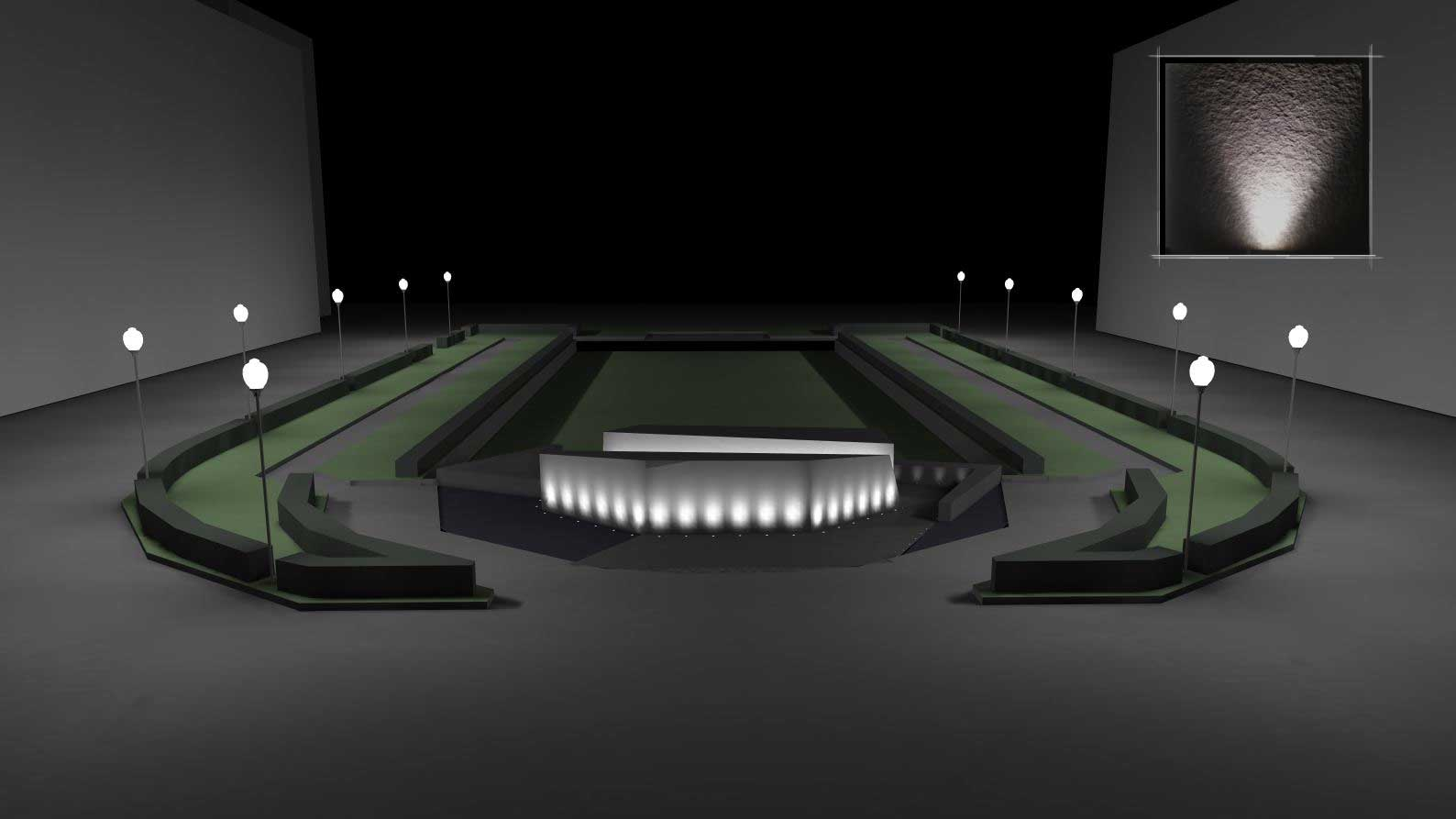 SF Veteran's Memorial site lighting design