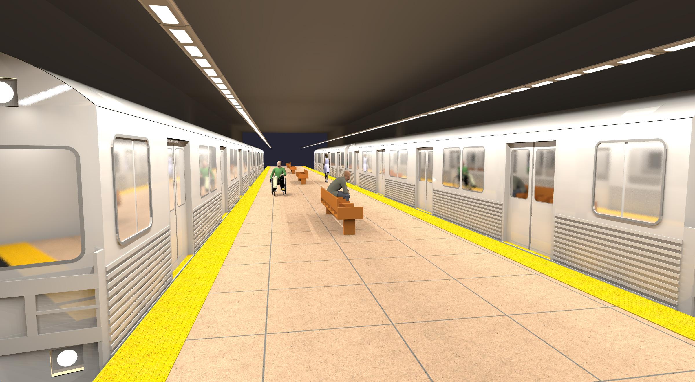 Subway Platform Lighting